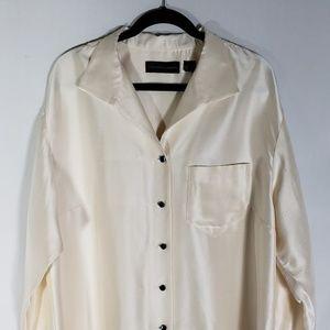 Dana Buchman Womens 100% Silk button Shirt 18